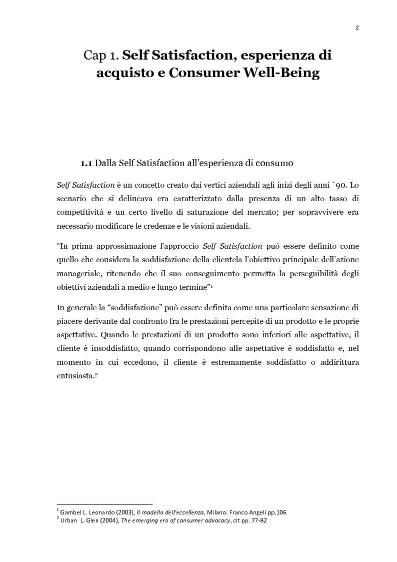 Anteprima della tesi: Il processo di acquisto del consumatore: la self-satisfaction, Pagina 2