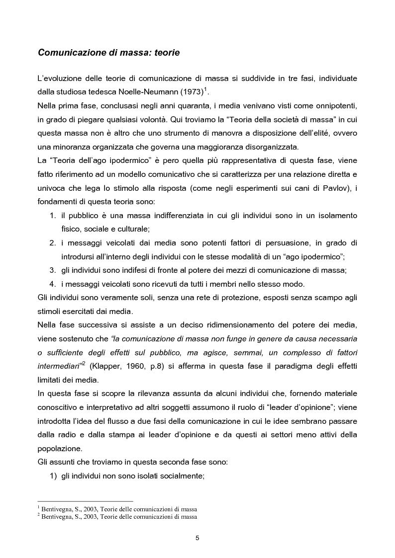 Anteprima della tesi: Manipolazione dell'informazione: orientare l'opinione pubblica, Pagina 2