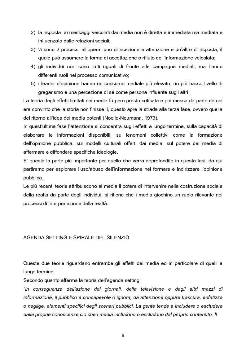 Anteprima della tesi: Manipolazione dell'informazione: orientare l'opinione pubblica, Pagina 3