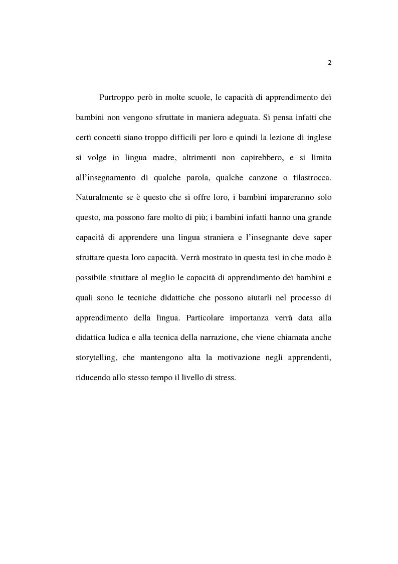 Anteprima della tesi: L'insegnamento dell'inglese fin dalla prima infanzia, Pagina 3