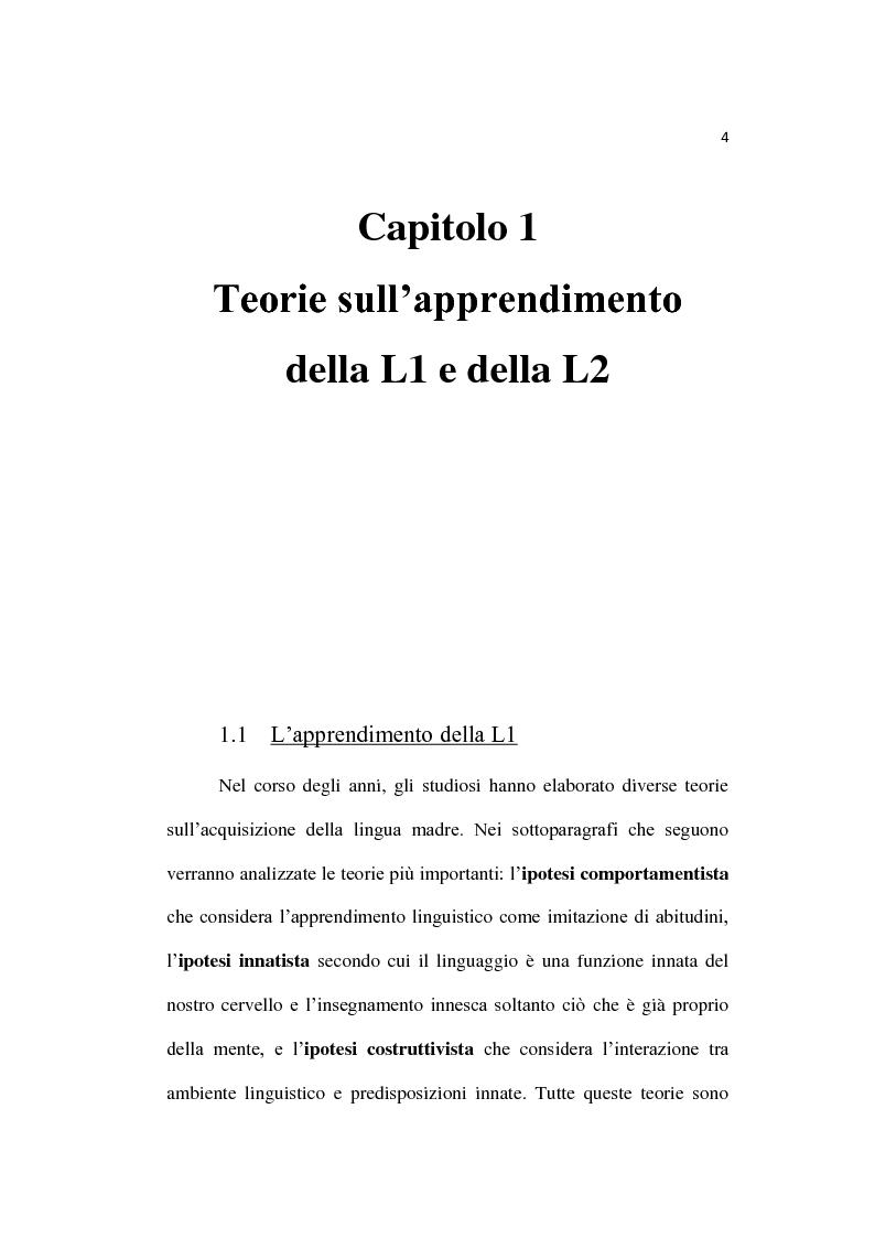 Anteprima della tesi: L'insegnamento dell'inglese fin dalla prima infanzia, Pagina 5