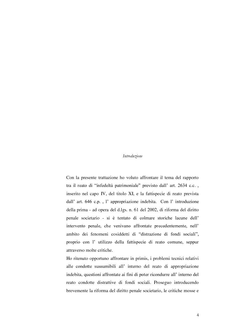 """Anteprima della tesi: Infedeltà patrimoniale e appropriazione indebita: una """"convivenza"""" difficile., Pagina 2"""