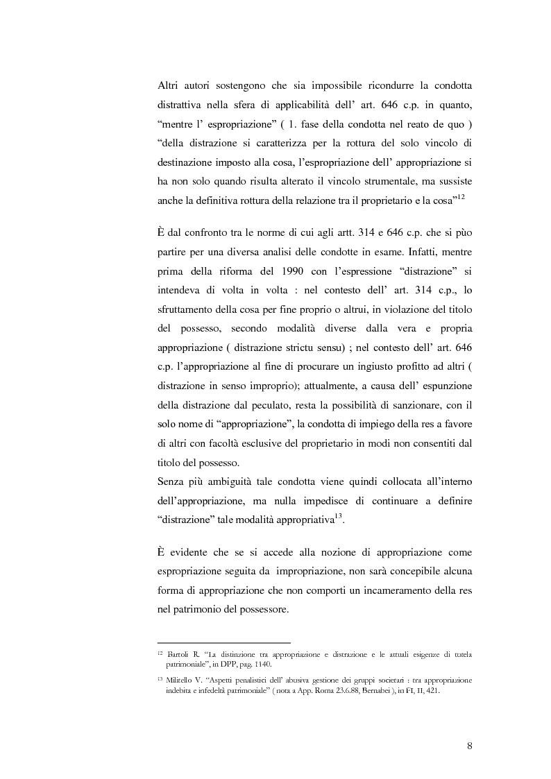 """Anteprima della tesi: Infedeltà patrimoniale e appropriazione indebita: una """"convivenza"""" difficile., Pagina 6"""