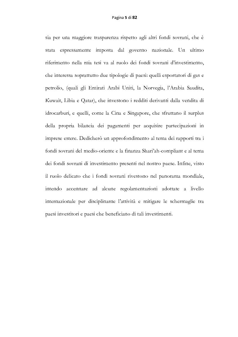 Anteprima della tesi: Analisi economica dei fondi sovrani, Pagina 3