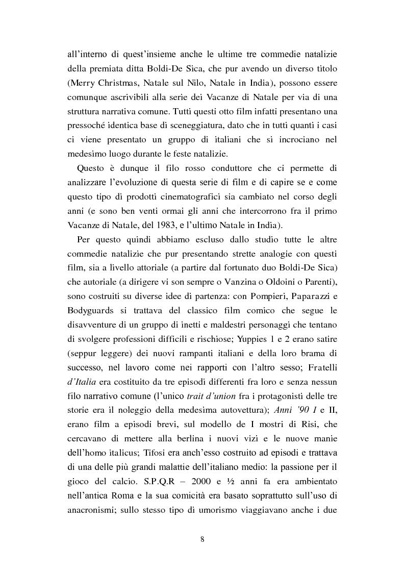 Anteprima della tesi: Il film-panettone e il presente: forme dell'intertestualità nella serie di film ''Vacanze di Natale'', Pagina 7