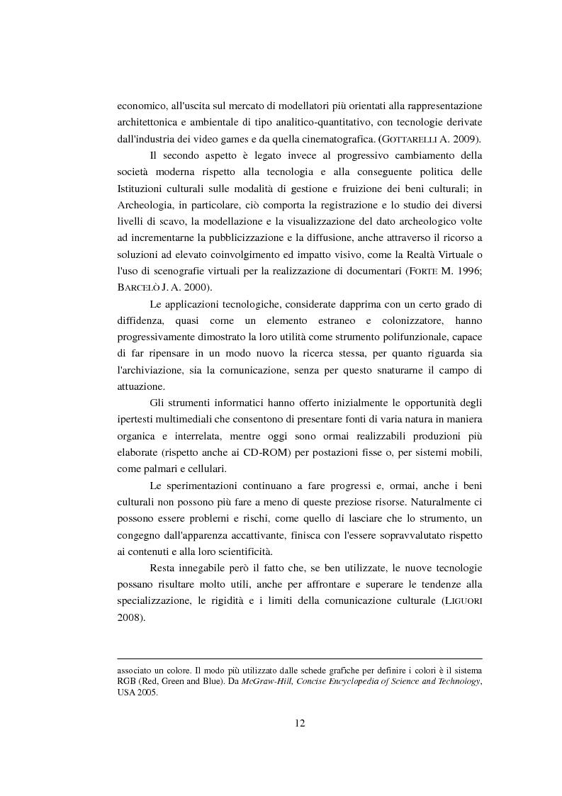 Anteprima della tesi: Modellizzazione tridimensionale dello spazio archeologico: l'esempio applicativo di Rontana, Pagina 5