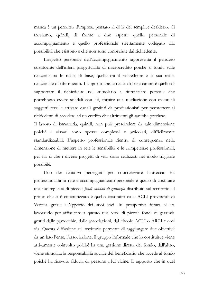 Anteprima della tesi: Il microcredito relazionale e sociale: il lavoro della Mag di Verona, Pagina 7