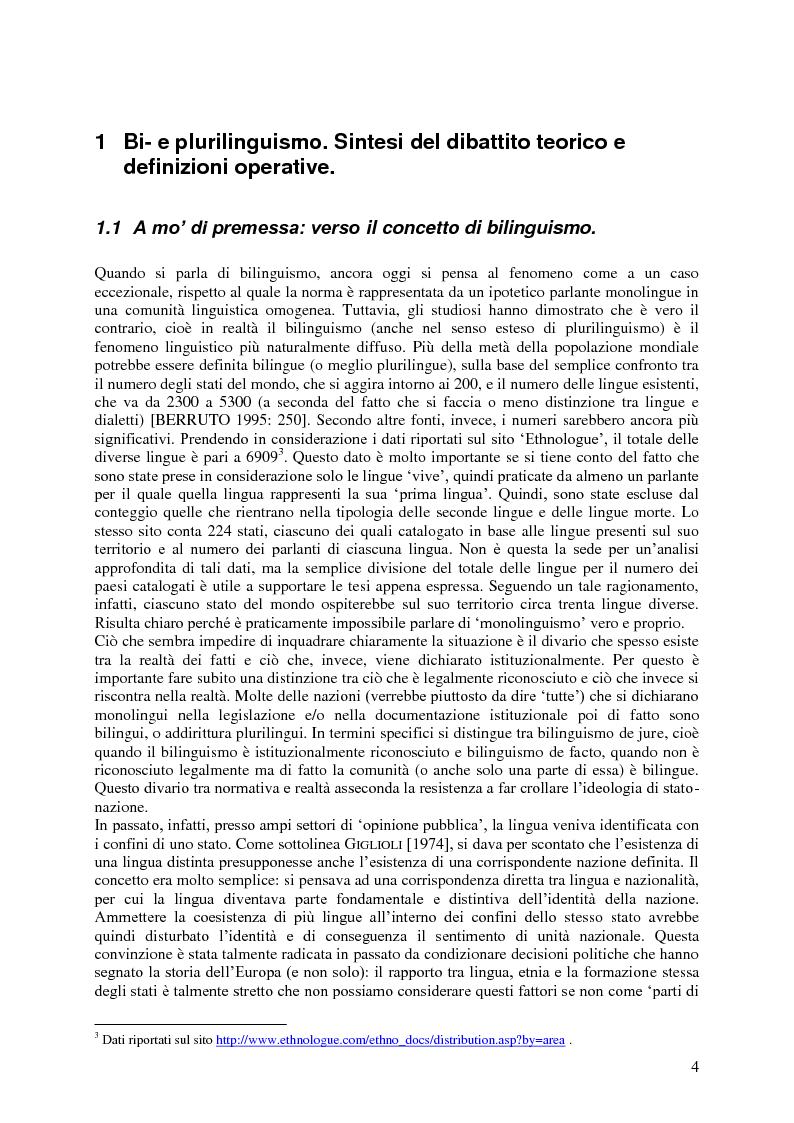 Anteprima della tesi: Il code-switching a Malta, Pagina 5