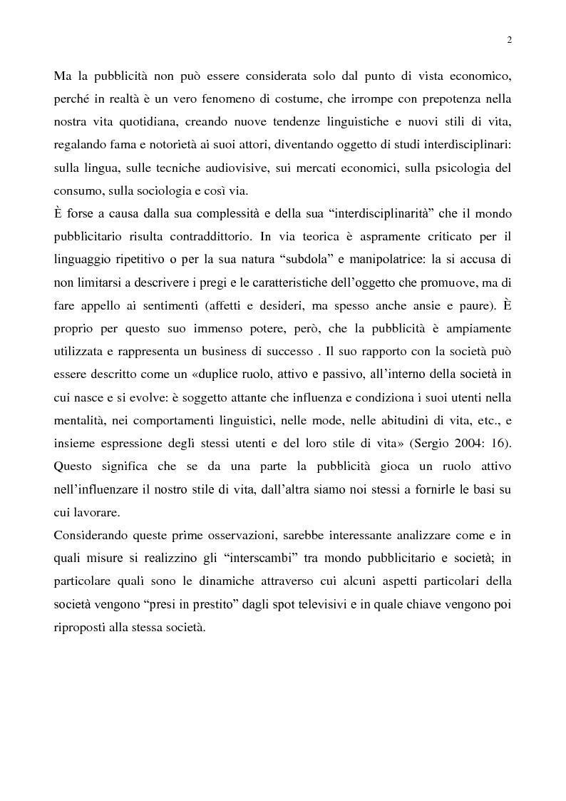 Anteprima della tesi: Il gender nella pubblicità audiovisiva contemporanea, Pagina 3