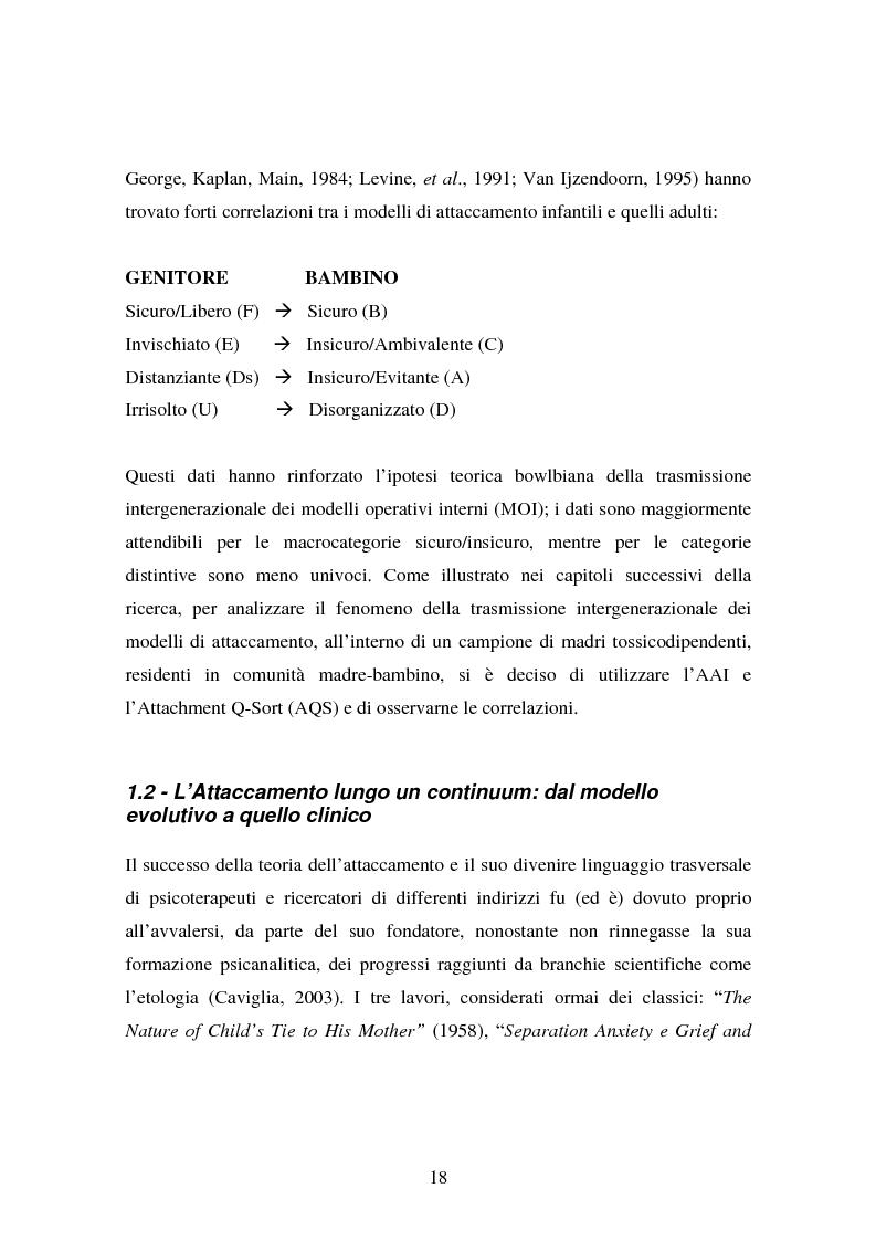 Anteprima della tesi: La genitorialità in situazioni a rischio: tossicodipendenza materna e comunità madre-bambino, Pagina 11