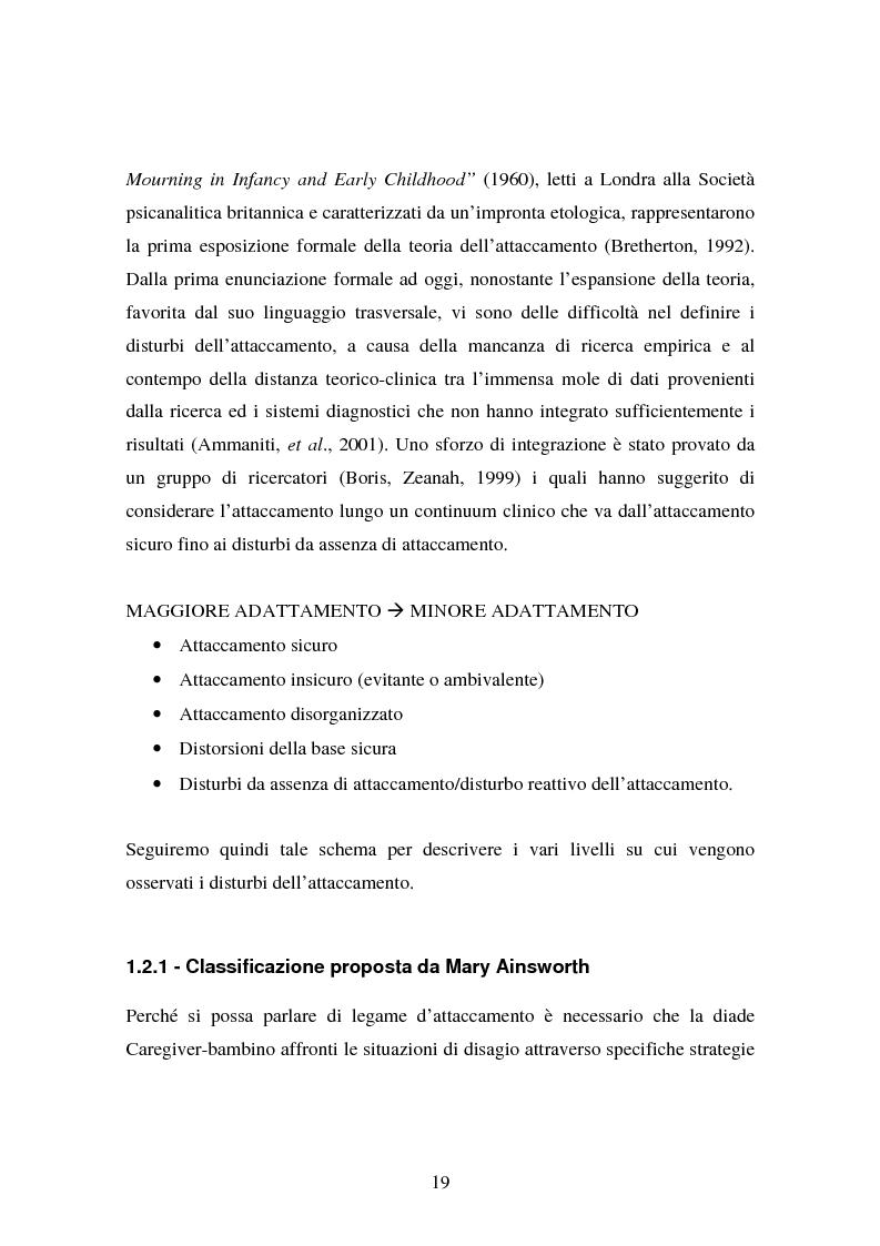 Anteprima della tesi: La genitorialità in situazioni a rischio: tossicodipendenza materna e comunità madre-bambino, Pagina 12
