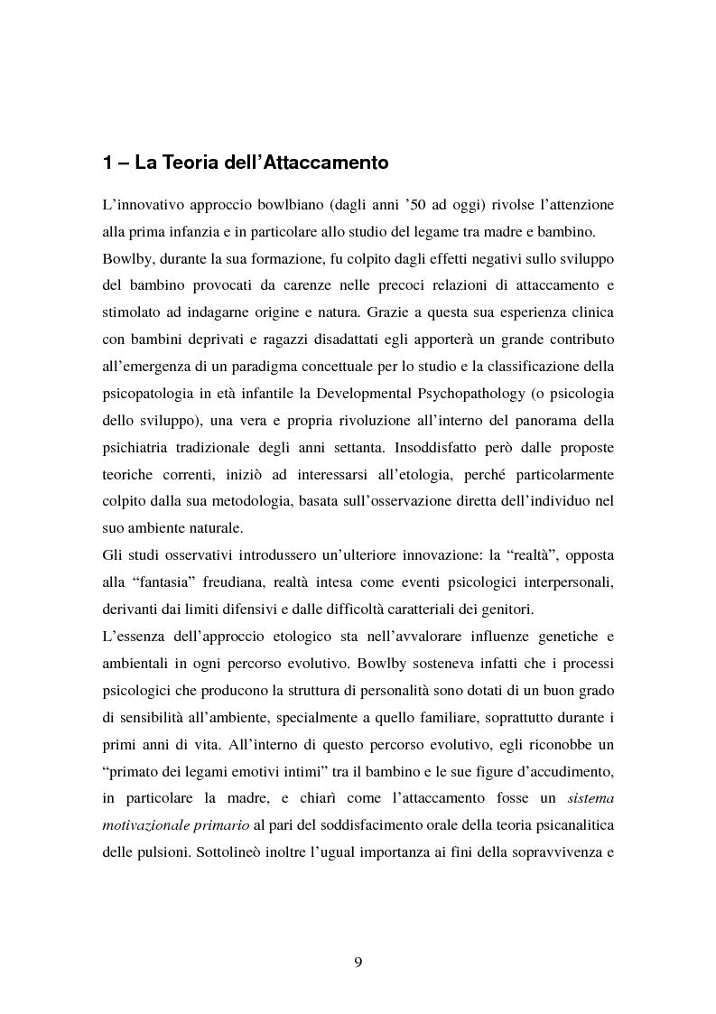 Anteprima della tesi: La genitorialità in situazioni a rischio: tossicodipendenza materna e comunità madre-bambino, Pagina 2