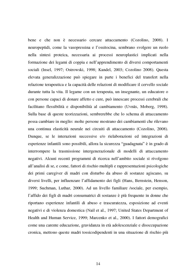 Anteprima della tesi: La genitorialità in situazioni a rischio: tossicodipendenza materna e comunità madre-bambino, Pagina 7