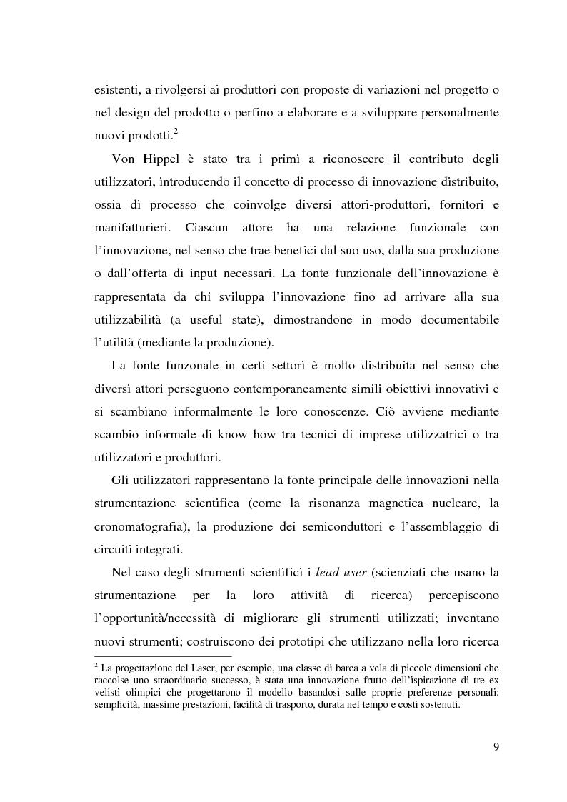 Anteprima della tesi: Innovazione come fonte di vantaggio competitivo e creazione di valore: il caso aziendale Fastweb, Pagina 7