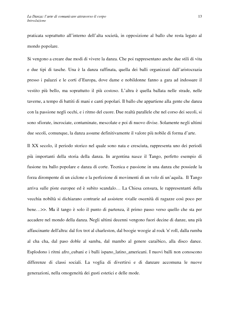Anteprima della tesi: La Danza: l'arte di comunicare attraverso il corpo, Pagina 6