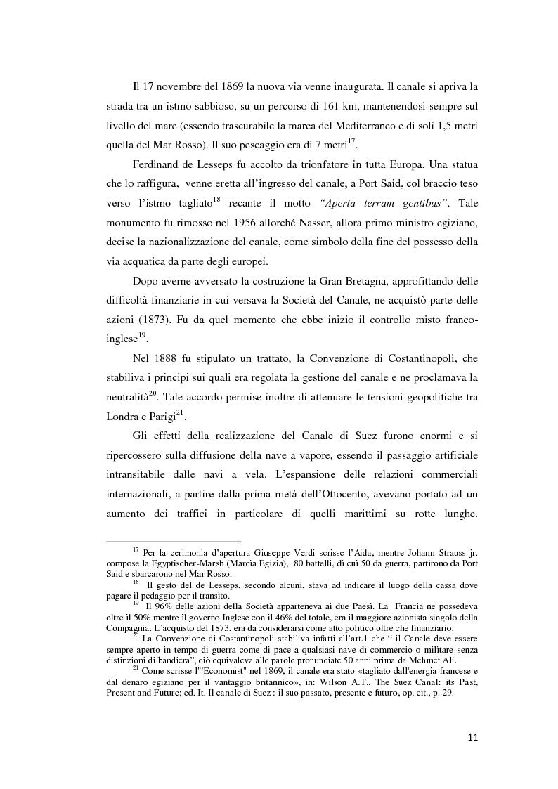Anteprima della tesi: Suez e Panama: due Canali a confronto, Pagina 11