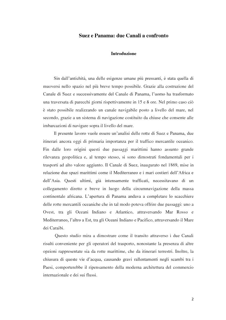 Anteprima della tesi: Suez e Panama: due Canali a confronto, Pagina 2