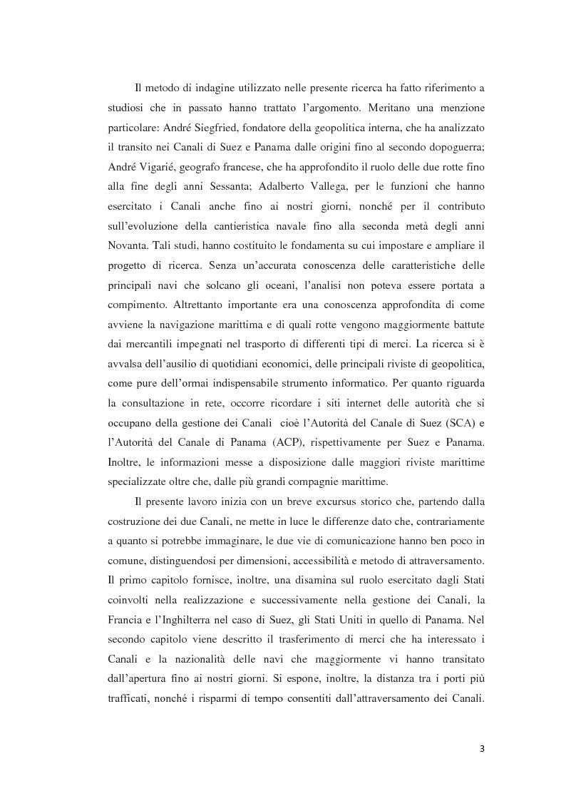 Anteprima della tesi: Suez e Panama: due Canali a confronto, Pagina 3