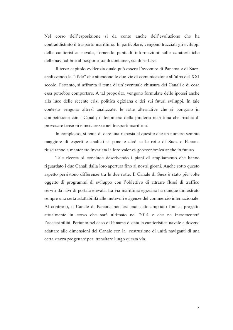 Anteprima della tesi: Suez e Panama: due Canali a confronto, Pagina 4