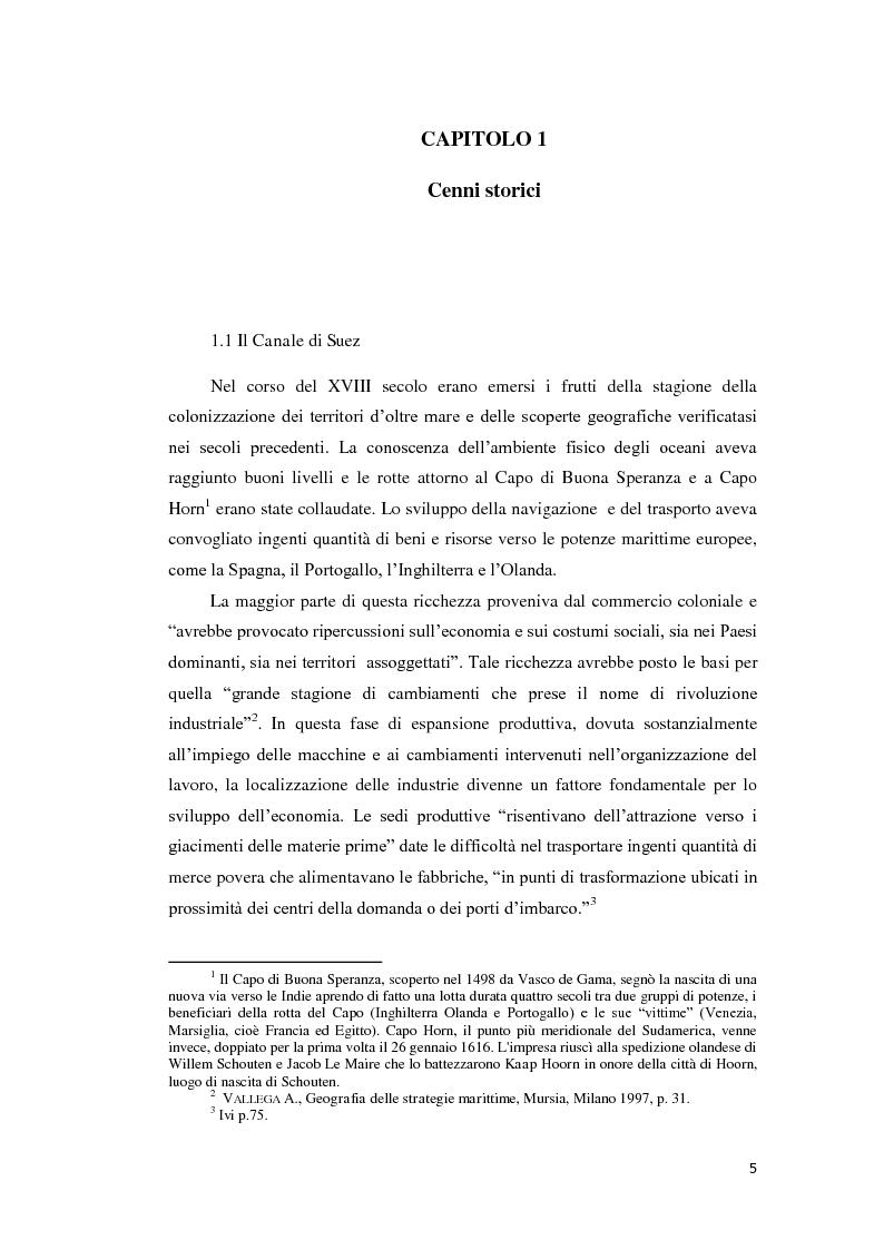 Anteprima della tesi: Suez e Panama: due Canali a confronto, Pagina 5