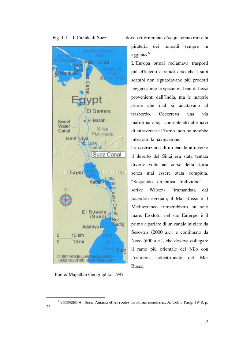 Anteprima della tesi: Suez e Panama: due Canali a confronto, Pagina 7