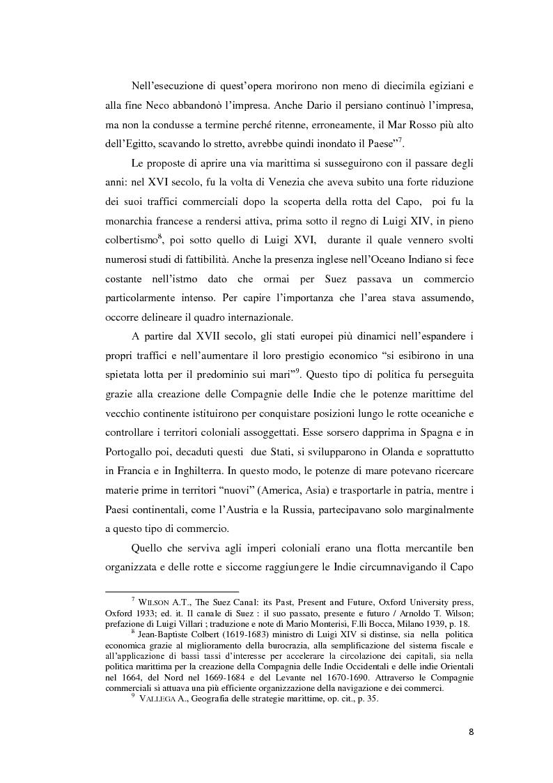 Anteprima della tesi: Suez e Panama: due Canali a confronto, Pagina 8