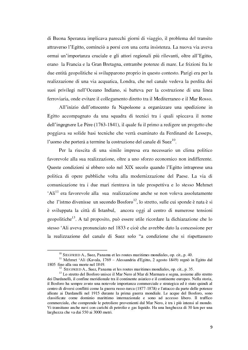 Anteprima della tesi: Suez e Panama: due Canali a confronto, Pagina 9