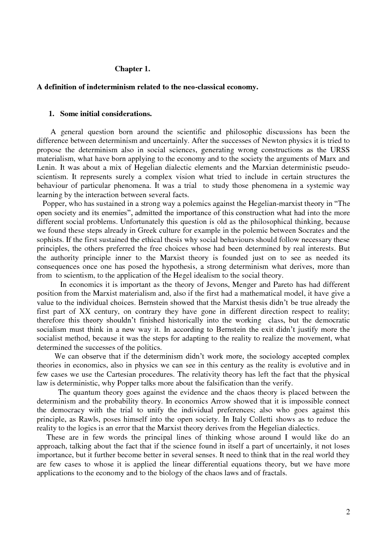 Anteprima della tesi: Determinism and uncertainly in the physical and social sciences, Pagina 3