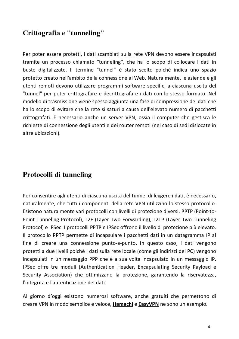 Anteprima della tesi: Progetto di una Rete Virtuale Privata (VPN), Pagina 3