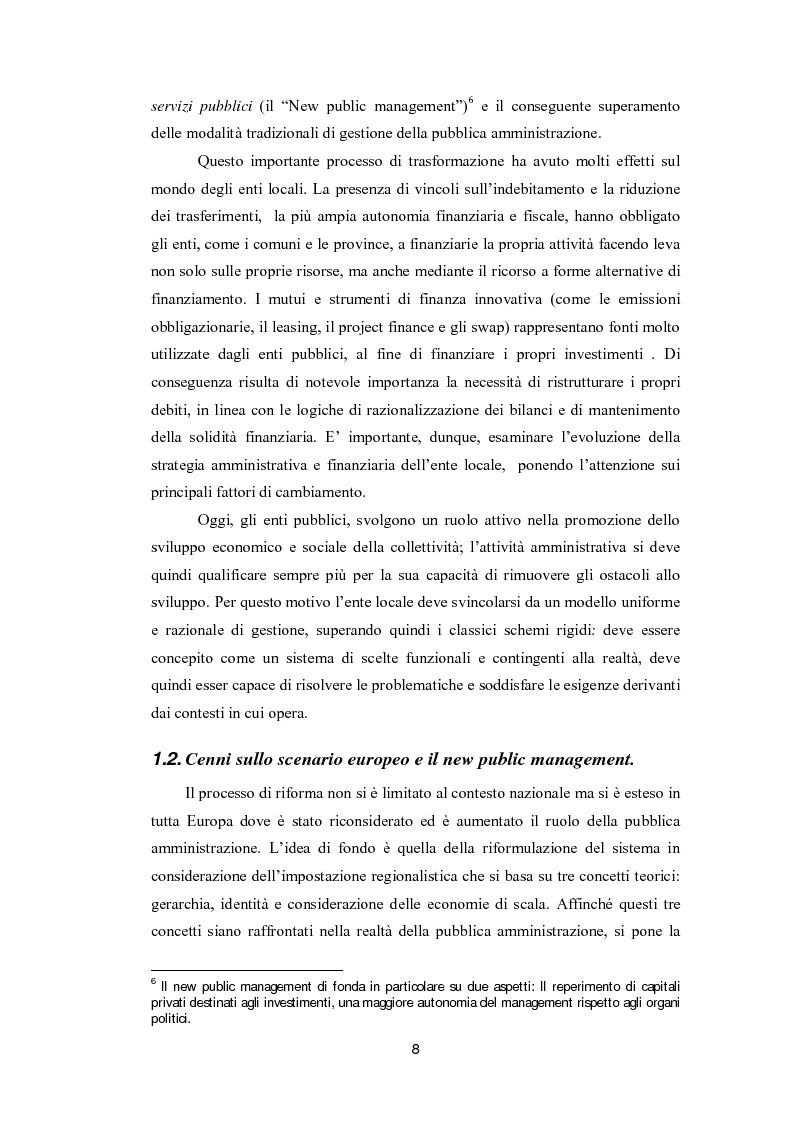 Anteprima della tesi: Lo strumento del rating per la valutazione della solidità finanziaria dell'ente locale: Il caso di Fitch Ratings inc., Pagina 6