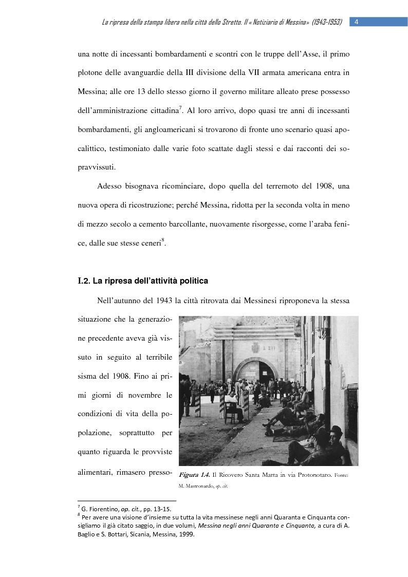 Anteprima della tesi: La ripresa della stampa libera nella città dello Stretto: il «Notiziario di Messina» (1943-1953), Pagina 10