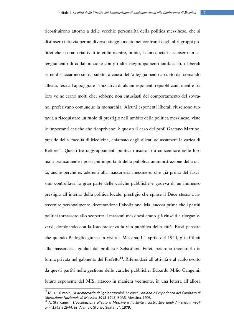 Anteprima della tesi: La ripresa della stampa libera nella città dello Stretto: il «Notiziario di Messina» (1943-1953), Pagina 13