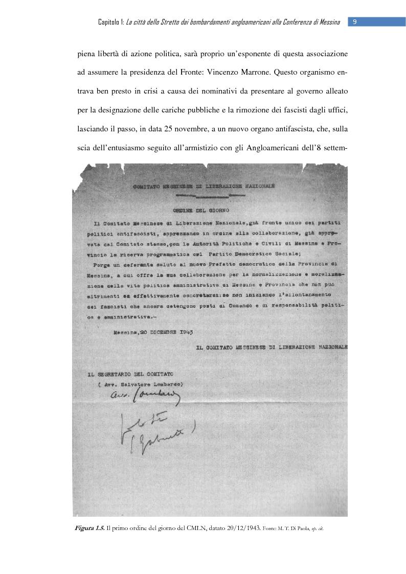 Anteprima della tesi: La ripresa della stampa libera nella città dello Stretto: il «Notiziario di Messina» (1943-1953), Pagina 15