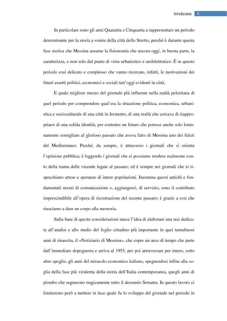 Anteprima della tesi: La ripresa della stampa libera nella città dello Stretto: il «Notiziario di Messina» (1943-1953), Pagina 3