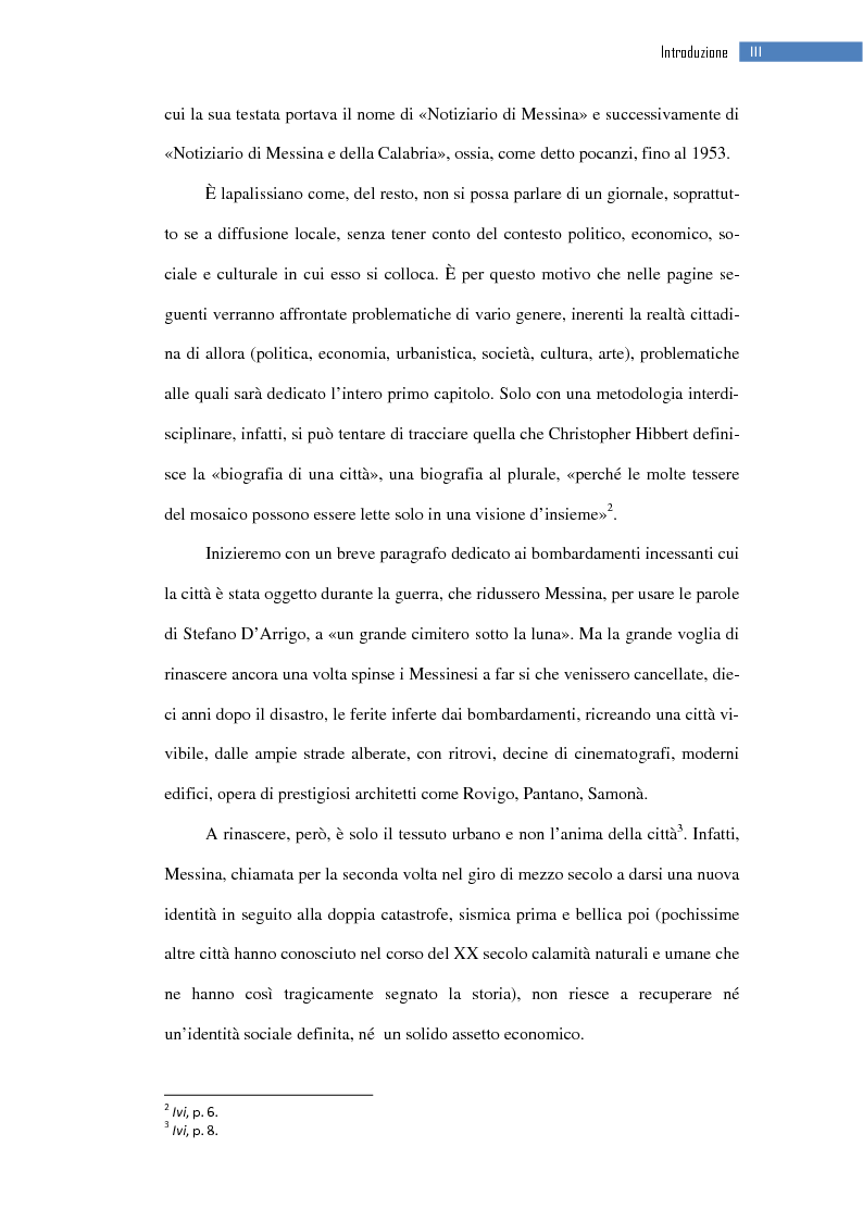 Anteprima della tesi: La ripresa della stampa libera nella città dello Stretto: il «Notiziario di Messina» (1943-1953), Pagina 4