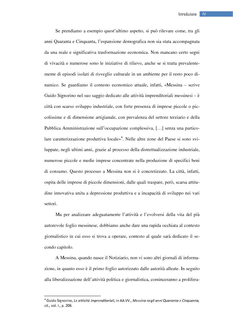 Anteprima della tesi: La ripresa della stampa libera nella città dello Stretto: il «Notiziario di Messina» (1943-1953), Pagina 5