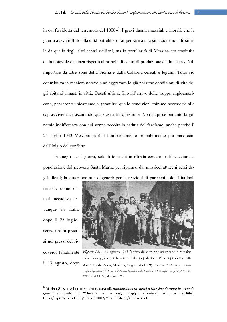 Anteprima della tesi: La ripresa della stampa libera nella città dello Stretto: il «Notiziario di Messina» (1943-1953), Pagina 9