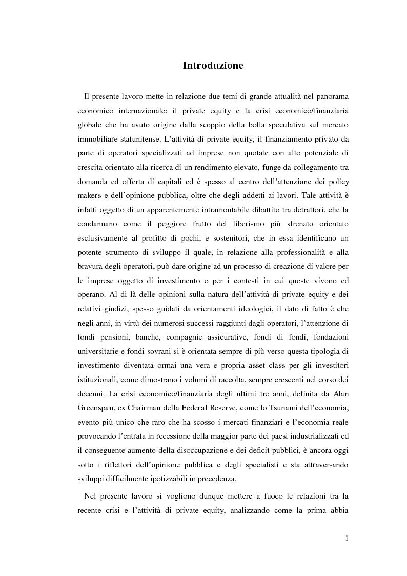 Anteprima della tesi: La ricerca del rendimento: l'impatto della crisi sul private equity, Pagina 2