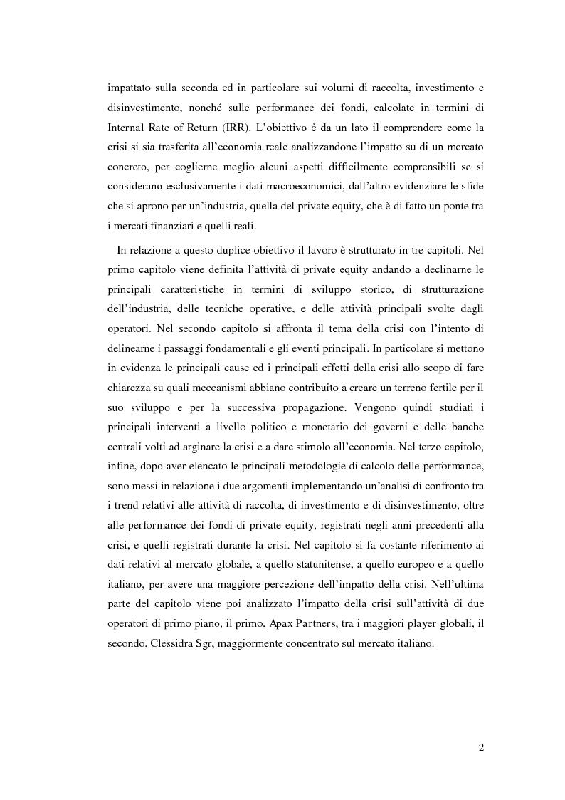 Anteprima della tesi: La ricerca del rendimento: l'impatto della crisi sul private equity, Pagina 3
