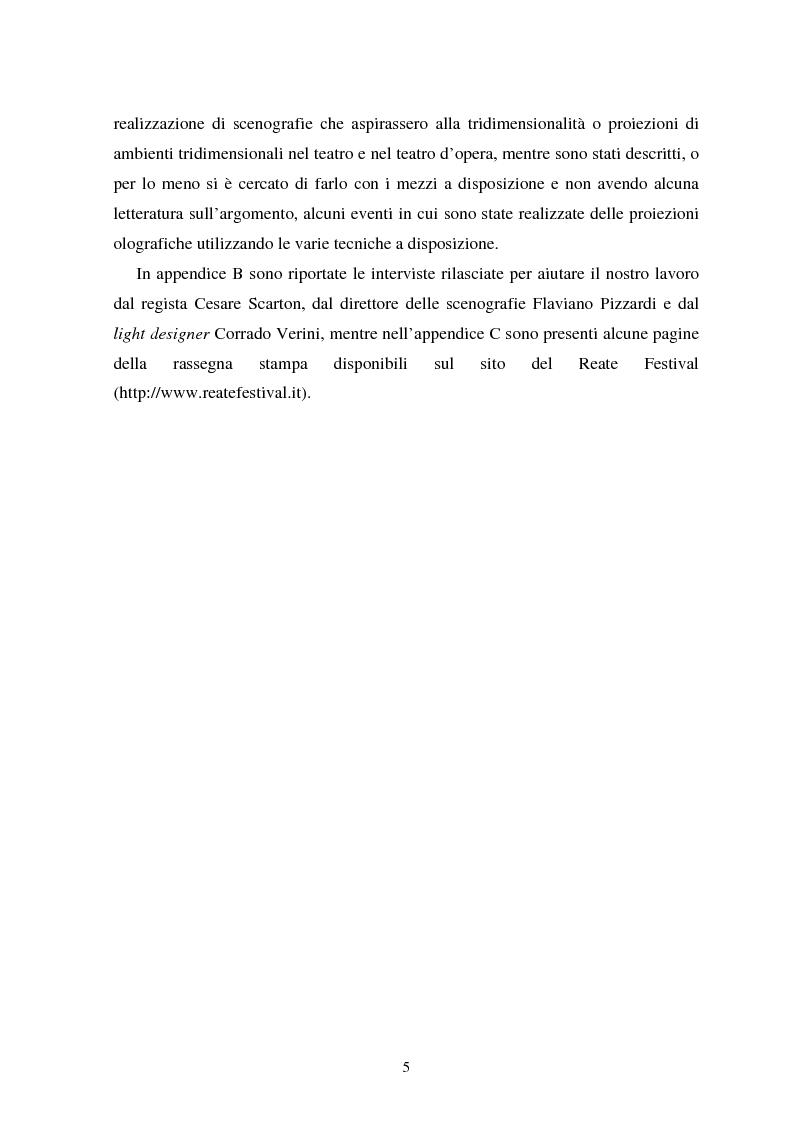 Anteprima della tesi: La messa in scena de ''Il campanello'' di Donizetti al ''Reate Festival'' di Rieti tra tradizione e tecnologie: olografia e scenografia, Pagina 4