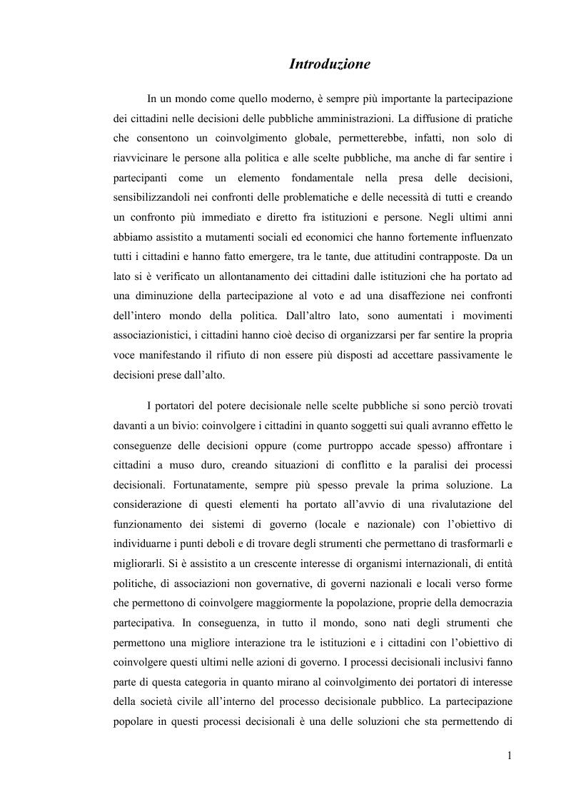 Anteprima della tesi: Il Bilancio Partecipativo. Un confronto tra le esperienze di Porto Alegre e Grottammare, Pagina 2