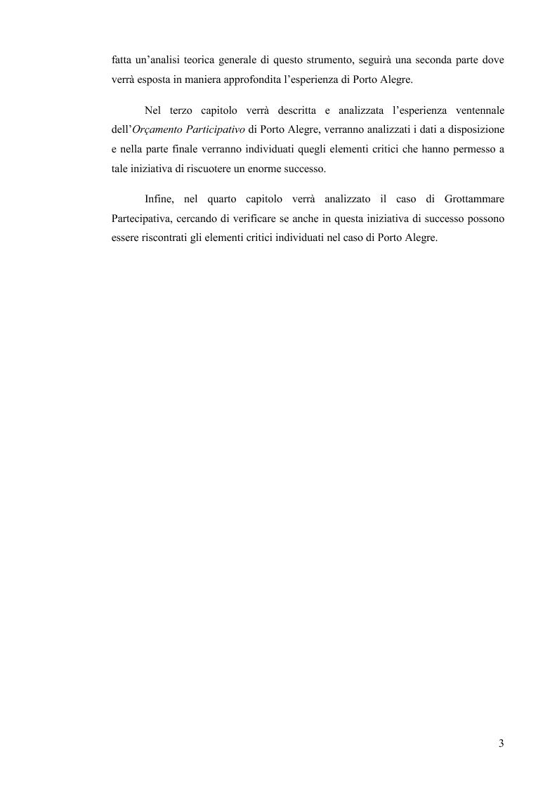 Anteprima della tesi: Il Bilancio Partecipativo. Un confronto tra le esperienze di Porto Alegre e Grottammare, Pagina 4