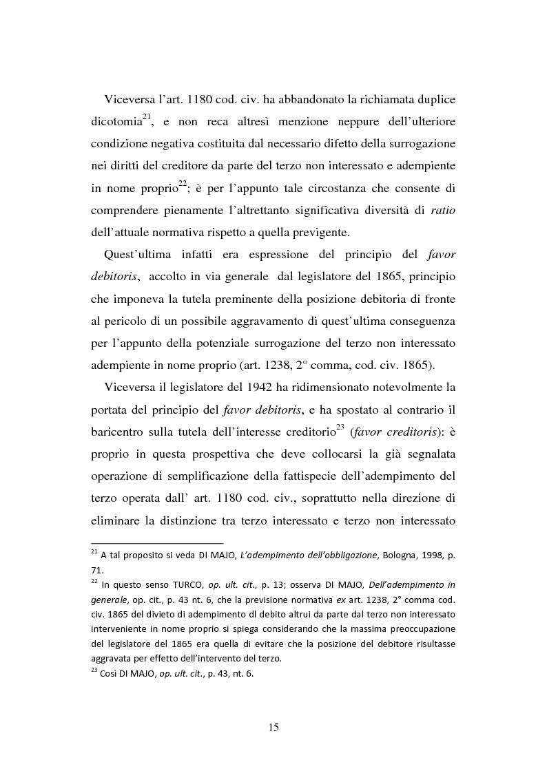 Anteprima della tesi: L'adempimento del terzo: struttura, disciplina e recupero della prestazione nella prospettiva dei rapporti trilateri, Pagina 16
