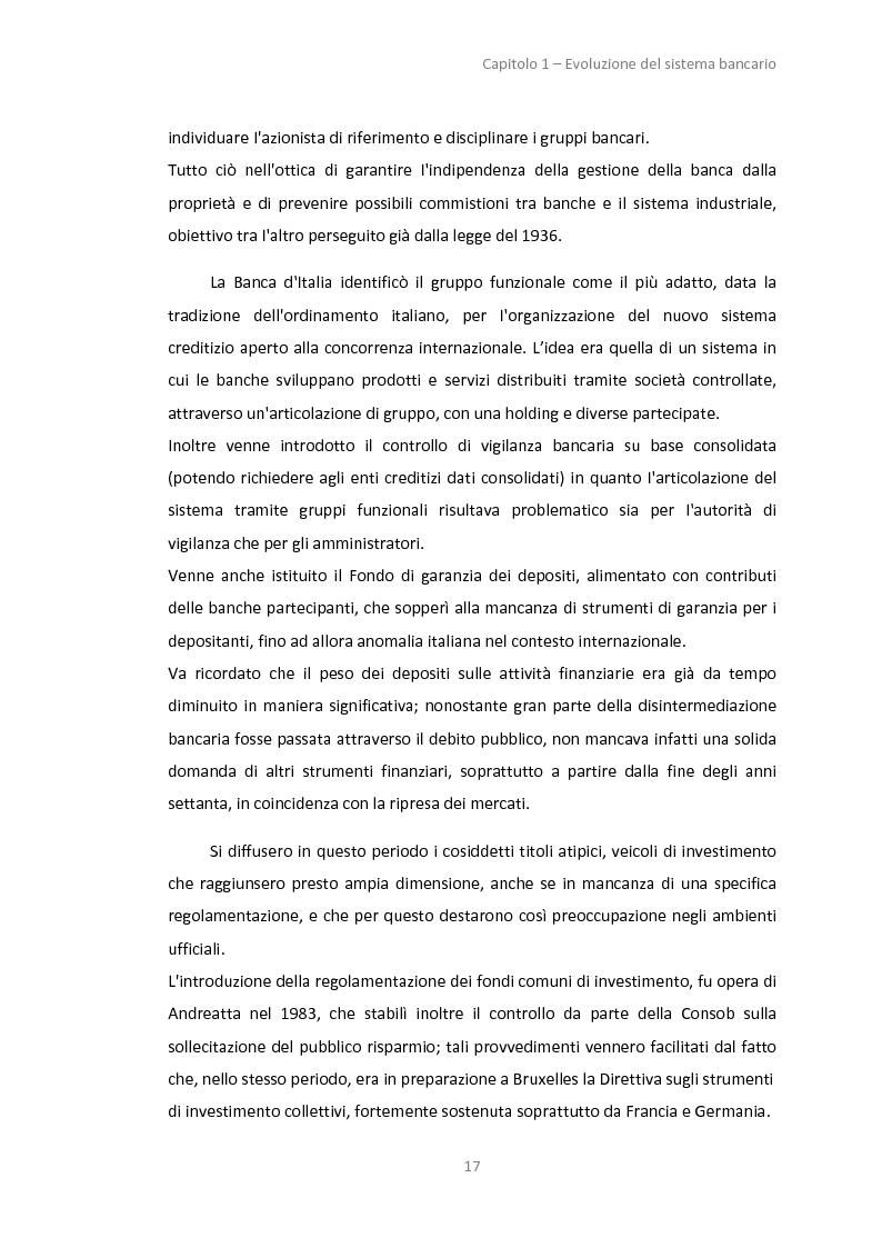 Anteprima della tesi: La gestione dei servizi bancari tra efficienza e territorialità, Pagina 14
