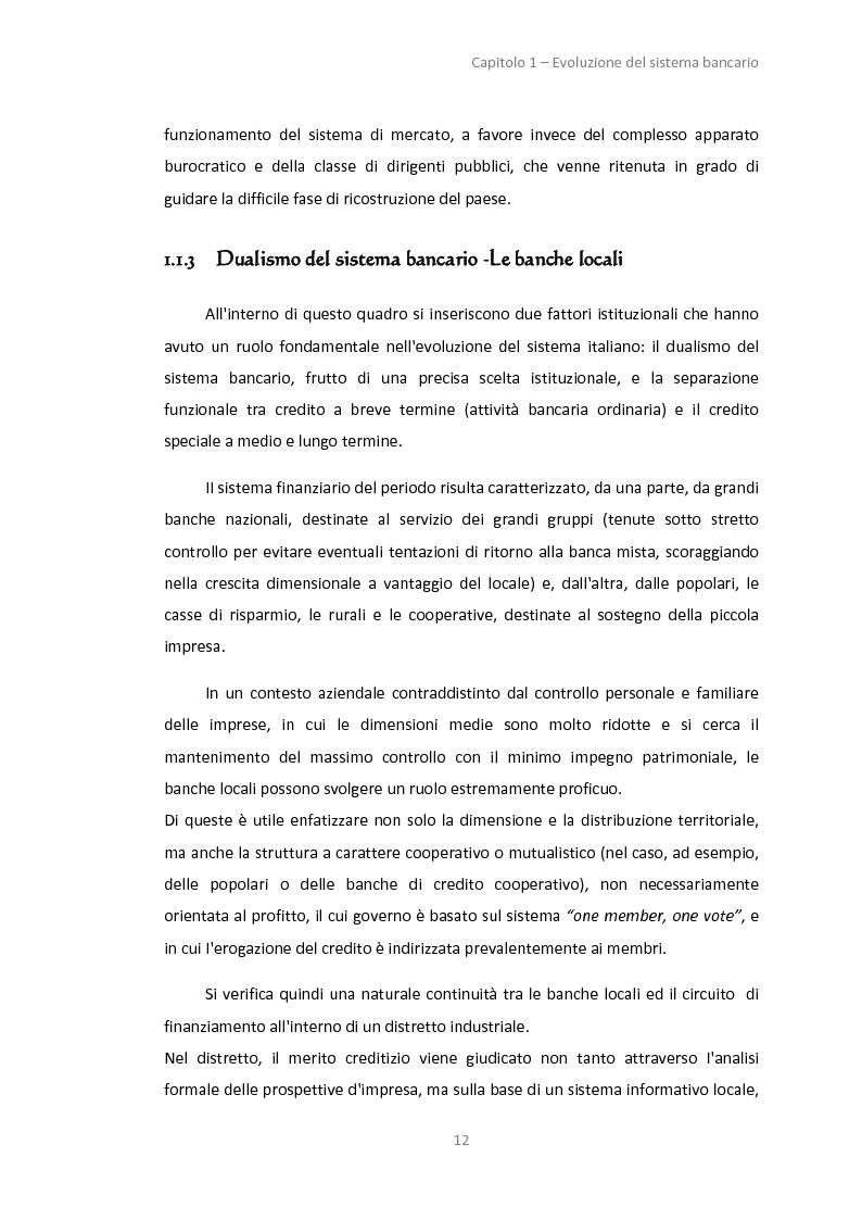 Anteprima della tesi: La gestione dei servizi bancari tra efficienza e territorialità, Pagina 9