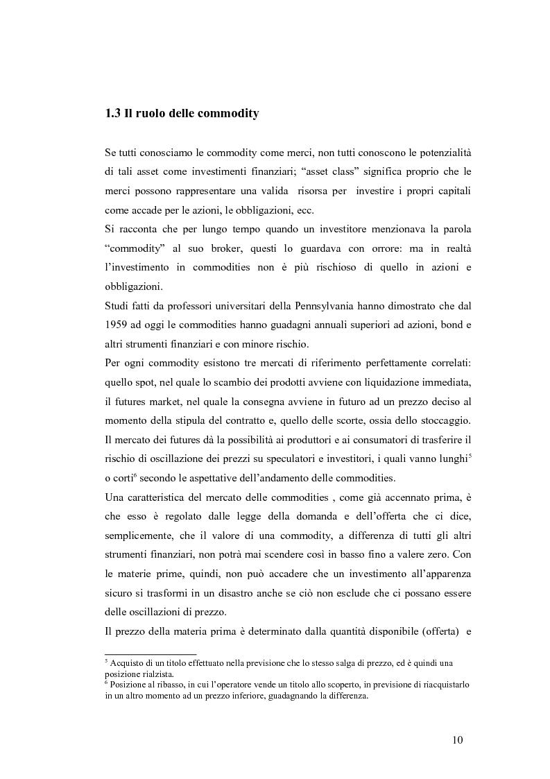 Anteprima della tesi: Il legame tra commodity e equity nei periodi di stress: un'analisi su rendimenti e volatilità, Pagina 9