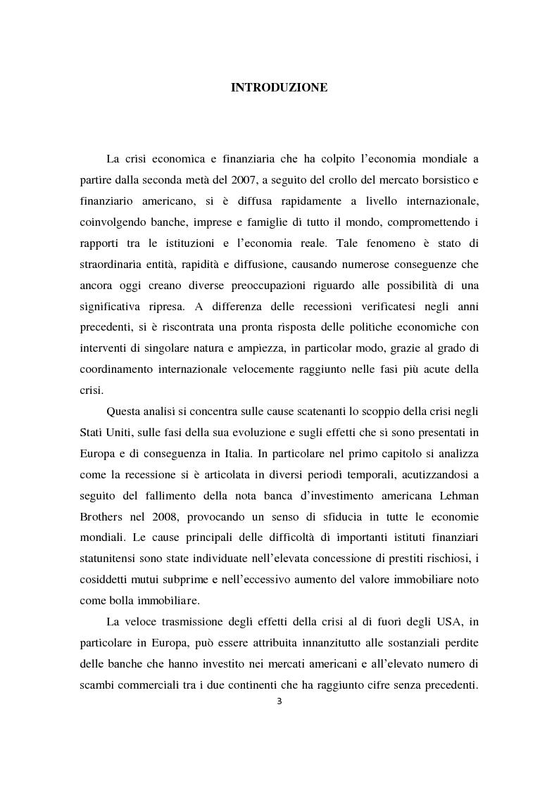 Anteprima della tesi: Il sistema produttivo italiano e il rapporto banca-impresa durante la crisi, Pagina 2