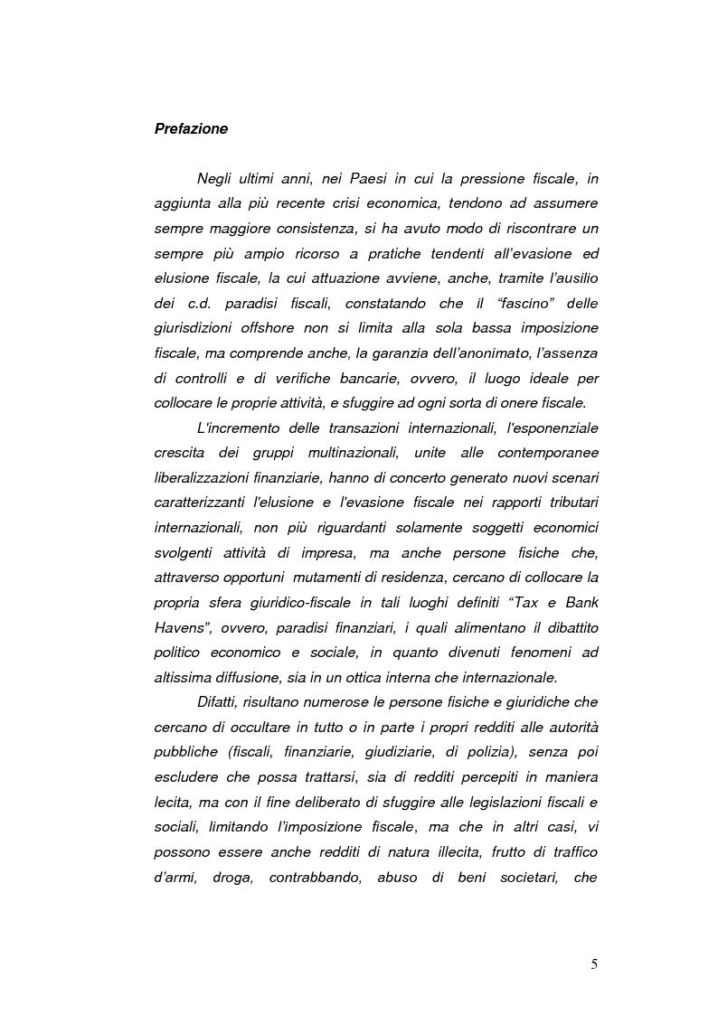 Anteprima della tesi: Paradisi Fiscali e Rapporti Tributari Internazionali, Pagina 2