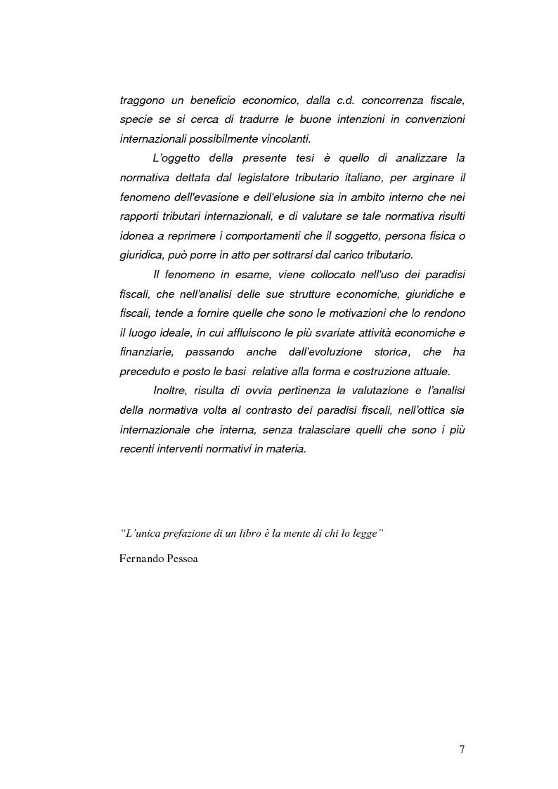 Anteprima della tesi: Paradisi Fiscali e Rapporti Tributari Internazionali, Pagina 4