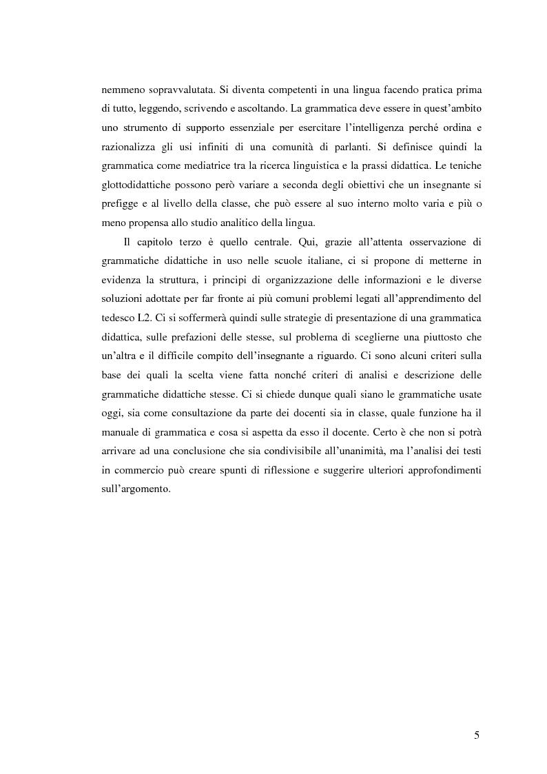 Anteprima della tesi: Il tedesco come lingua straniera nella scuola secondaria: grammatiche didattiche, Pagina 3